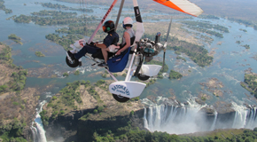 Microlighting over the Victoria Falls
