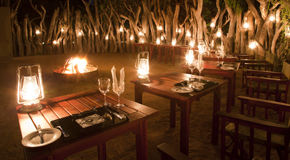 Enjoy dining in the Boma