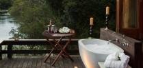 Enjoy the outside bathing area at Royal Chundu